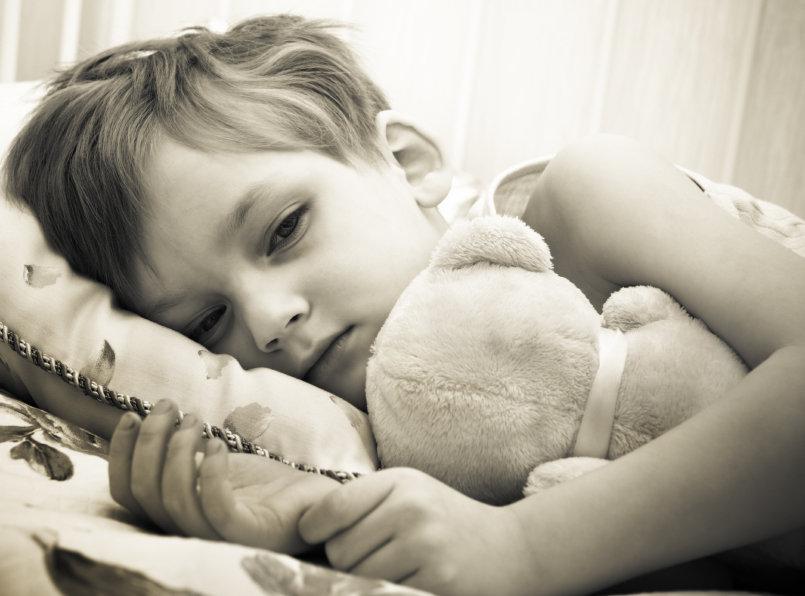barn med maginfluensa