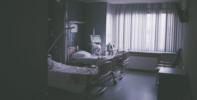 Sjukhussängar för patienter med lunginflammation