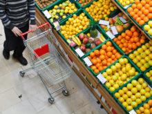 Fruktavdelning i en livsmedelsbutik