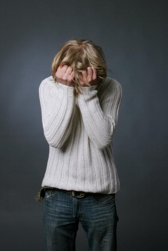 Tryck över bröstet illamående