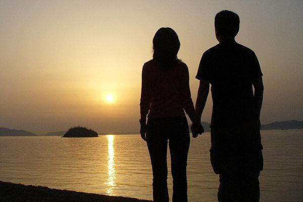 Ett par i solen