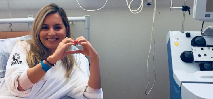 Fatana i en sjukhussäng