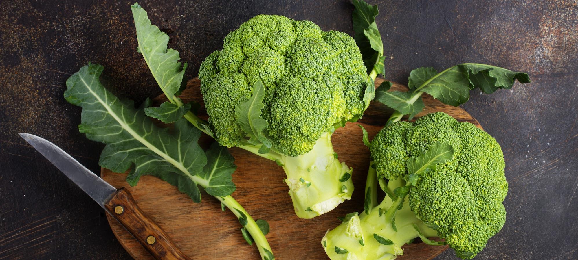Broccoli innehåller viktiga kostfibrer
