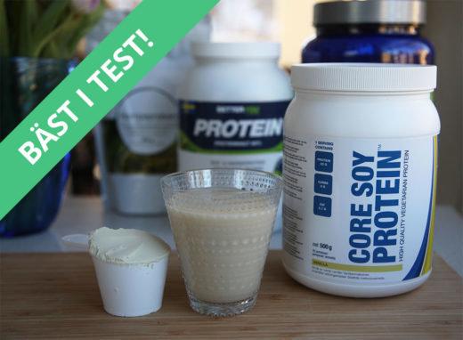 bästa veganska proteinpulvret