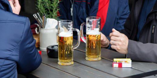 Öl vid uteservering